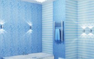 Отделка ванной ПВХ-панелями