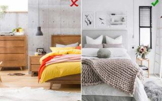8 самых распространенных ошибок при оформлении спальни