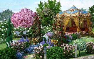Сад в восточном стиле