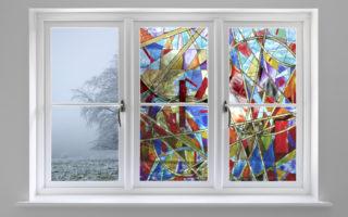 Пластиковый витраж для окна что это такое