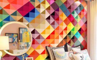 Красочные стены инновационного дизайна интерьера
