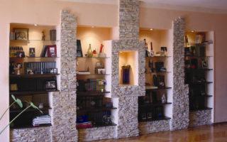 Оформление интерьеров с помощью искусственного камня