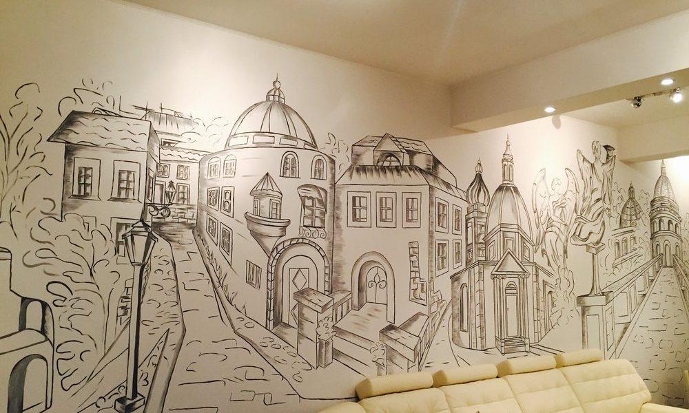 Художественная роспись в интерьере