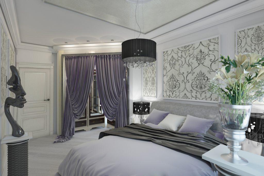 серо-белый оттенок в стиле Арт Деко