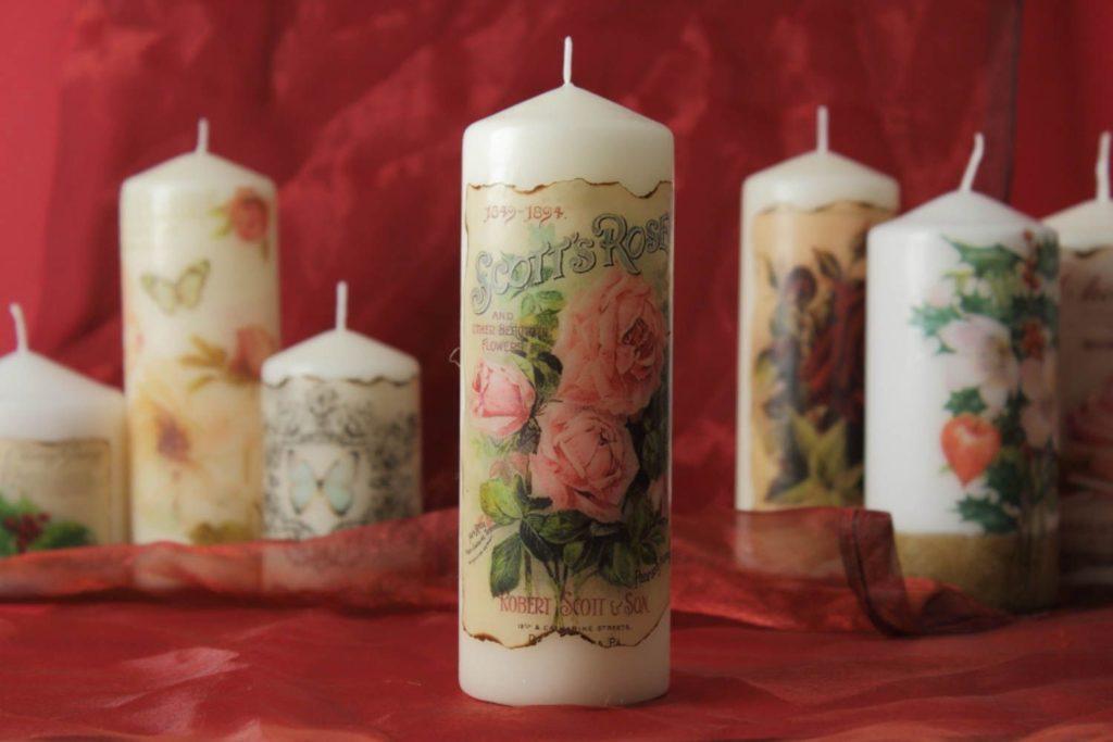 Декупаж клей для свечей
