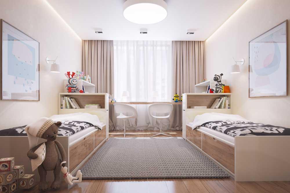 Дизайн комнат для двух детей