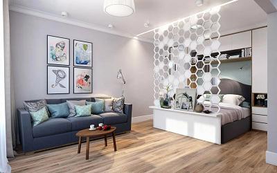 Как зонировать однокомнатную квартиру
